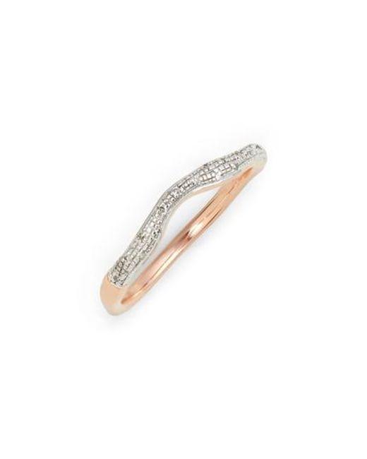 Monica Vinader | Metallic 'riva' Diamond Stacking Ring | Lyst