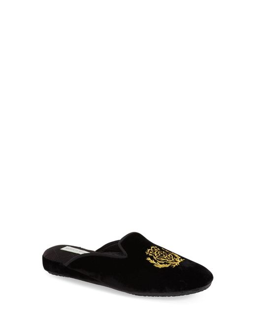 Patricia Green Black Diana Faux-Suede Slippers