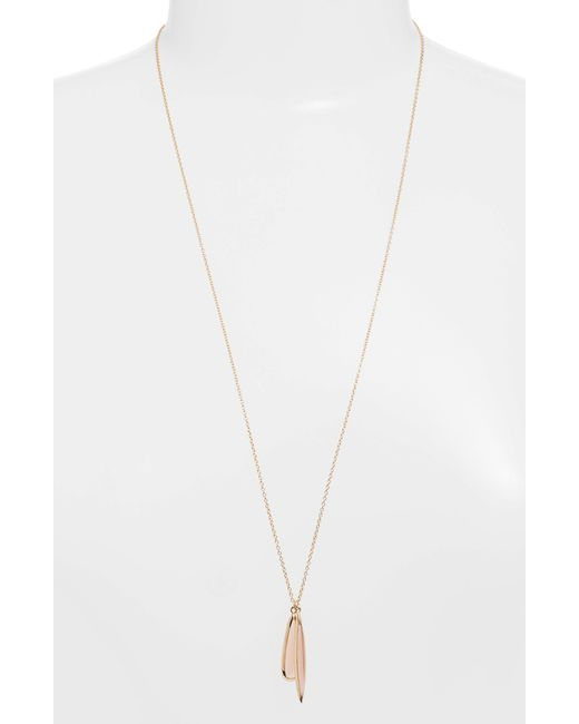 Sole Society - Metallic Double Charm Necklace - Lyst
