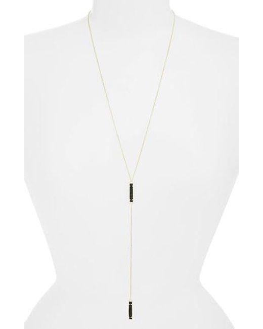 Kendra Scott - Metallic Lilly Long Y-necklace - Lyst