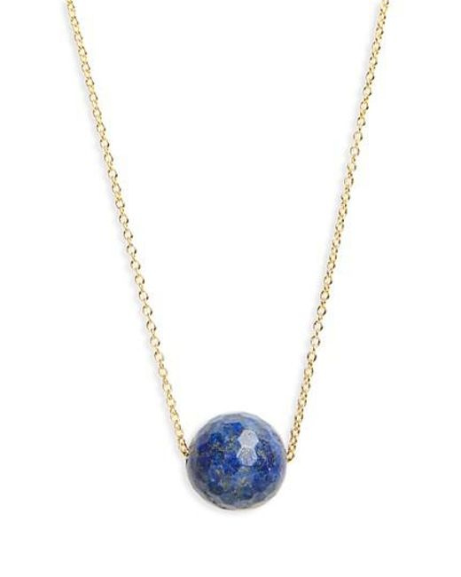 Gorjana | Metallic Power Gemstone Bead Adjustable Necklace | Lyst