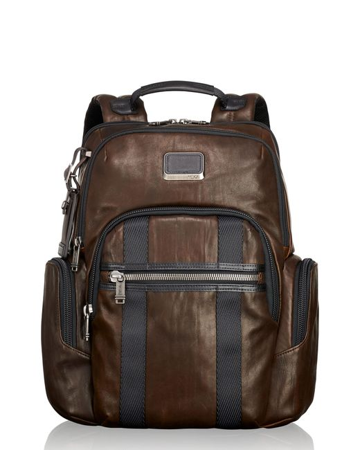 Tumi - Brown Alpha Bravo - Nellis Leather Backpack for Men - Lyst