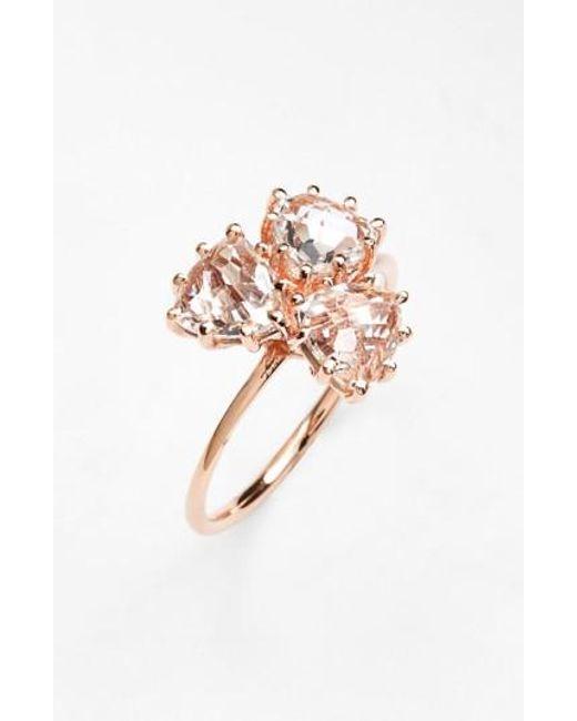 Suzanne Kalan | Pink Triple Trillion Stone Ring | Lyst