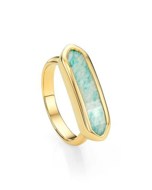 Monica Vinader - Metallic 'baja' Stone Ring - Lyst