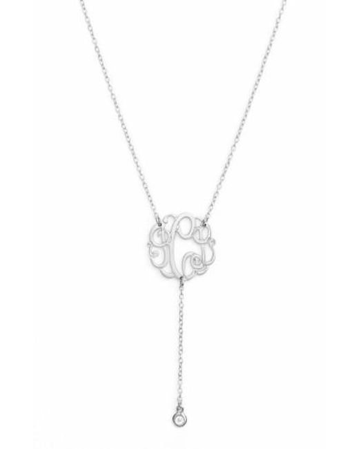 Argento Vivo | Metallic Personalized Three Initial Y-necklace | Lyst