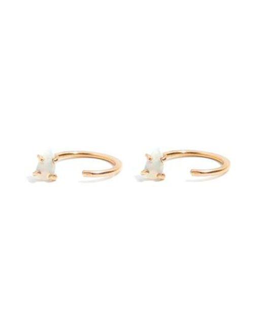 Melissa Joy Manning | Metallic Opal Hug Hoop Earrings | Lyst
