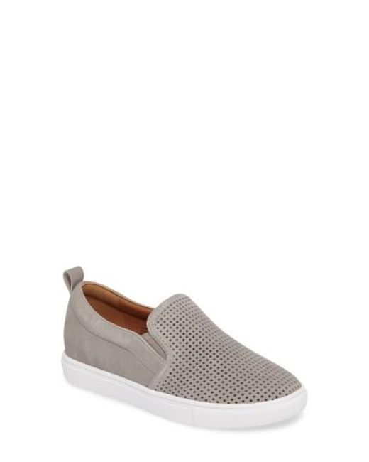 Caslon | Gray Caslon Eden Perforated Slip-on Sneaker | Lyst