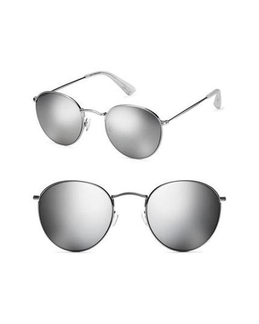 98229bffa8 Lyst - Mvmt Icon 50mm Wire Sunglasses in Metallic for Men