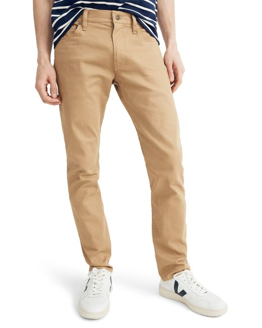Madewell Brown Garment Dyed Slim Fit Jeans for men