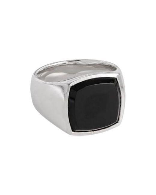 Tom Wood | Metallic Black Onyx Cushion Signet Ring | Lyst