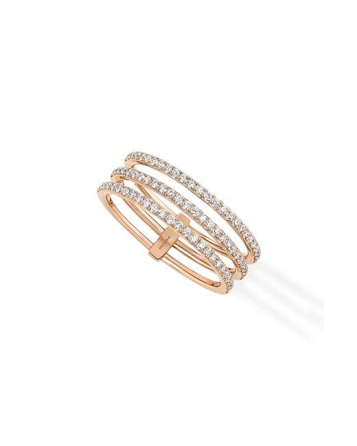 Messika - Metallic Gatsby 3 Row Diamond Ring - Lyst
