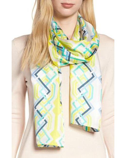Echo - Multicolor Geo Lattice Silk Scarf - Lyst