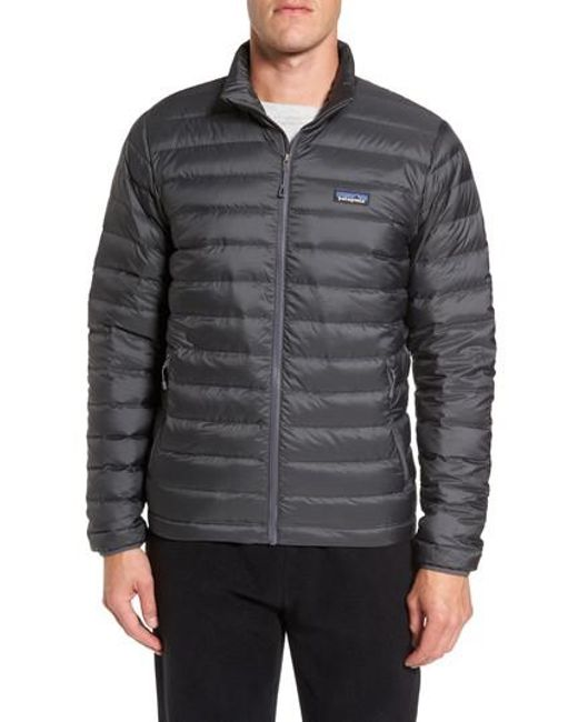 Patagonia | Gray Water Repellent Down Jacket for Men | Lyst