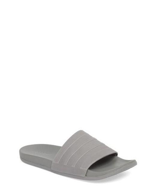 Adidas - Multicolor Adilette Cloudfoam Mono Sport Slide for Men - Lyst f41298403