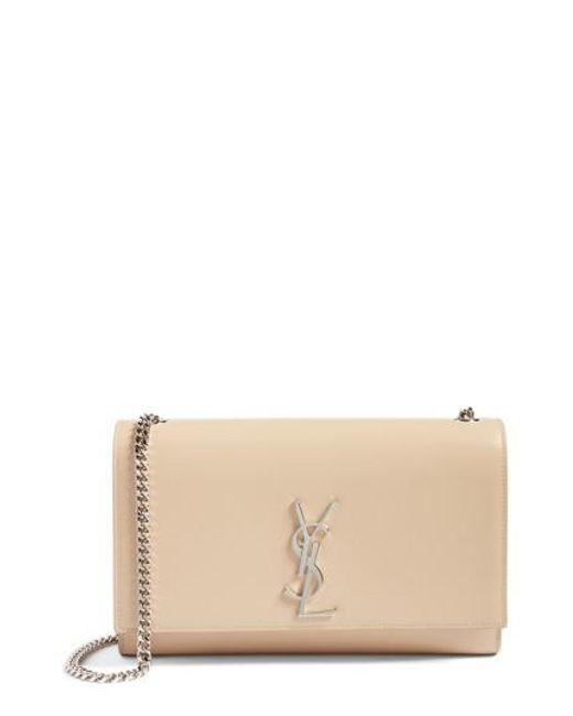 Saint Laurent - Natural Medium Kate Calfskin Leather Shoulder Bag - Lyst 2b5cc2d66f80f