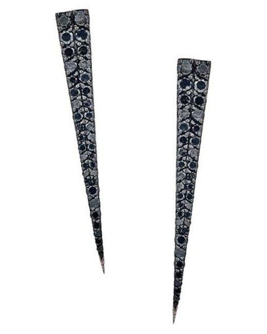 Lana Jewelry   Black 'reckless' Diamond Spike Earrings   Lyst