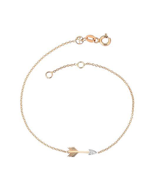 Kismet by Milka - Metallic Arrow Bracelet With Diamonds - Lyst