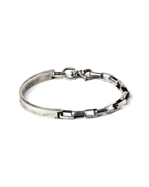Title Of Work - Metallic Side Cuff To Box Chain Bracelet for Men - Lyst