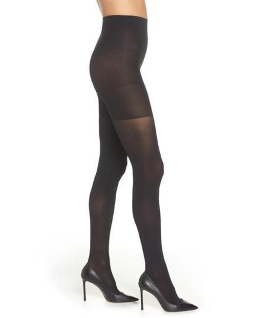 Spanx - Black Spanx 'luxe' Leg Shaping Tights - Lyst