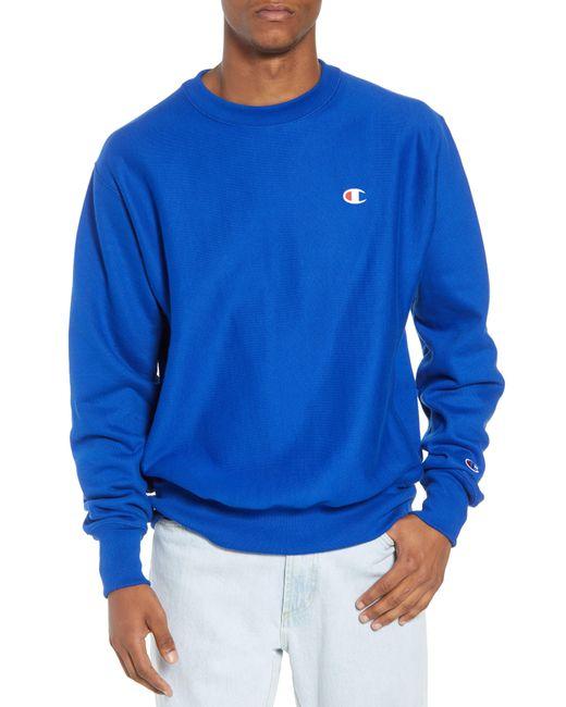 Champion Blue Reverse Weave Sweatshirt for men