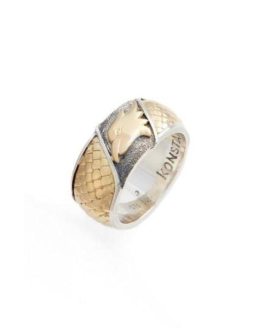 Konstantino | Metallic Heonos Eagle Ring | Lyst