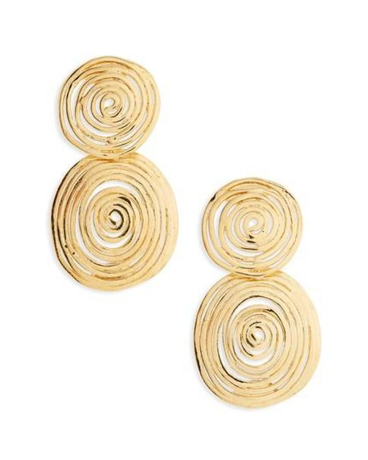 Gas Bijoux | Metallic Wave Small Drop Earrings | Lyst