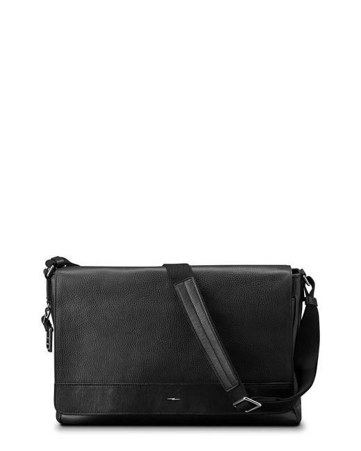 Shinola Black Luxe Grain Canfield Leather Messenger Bag for men