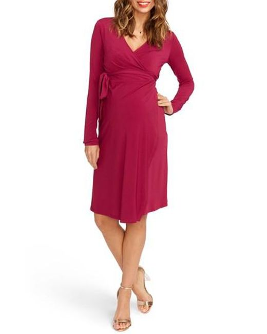 Rosie Pope | Green Wrap Maternity Dress | Lyst
