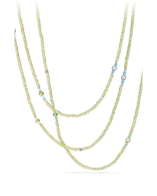 David Yurman - Metallic Mustique Tweejoux Beaded Necklace - Lyst