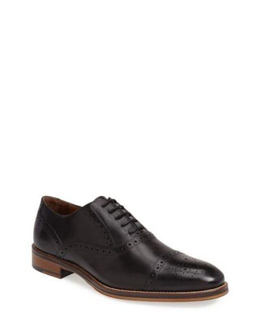 Johnston & Murphy - Black Conard Cap Toe Oxford for Men - Lyst