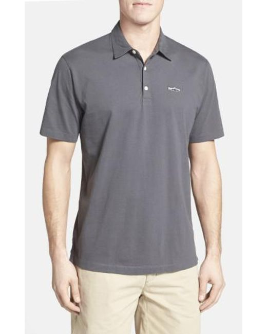 Patagonia - Gray 'trout Fitz Roy' Organic Cotton Polo for Men - Lyst