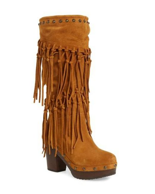 Ariat | Brown Music Row Fringe Boot | Lyst