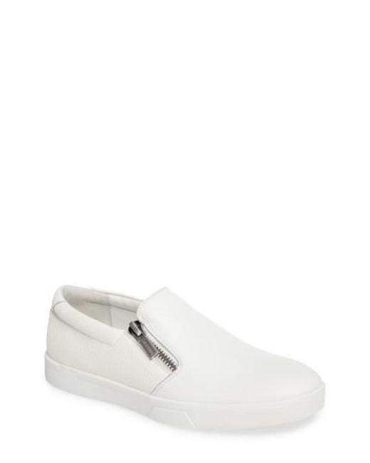 Calvin Klein   White Ibiza Slip-on Zip Sneaker   Lyst