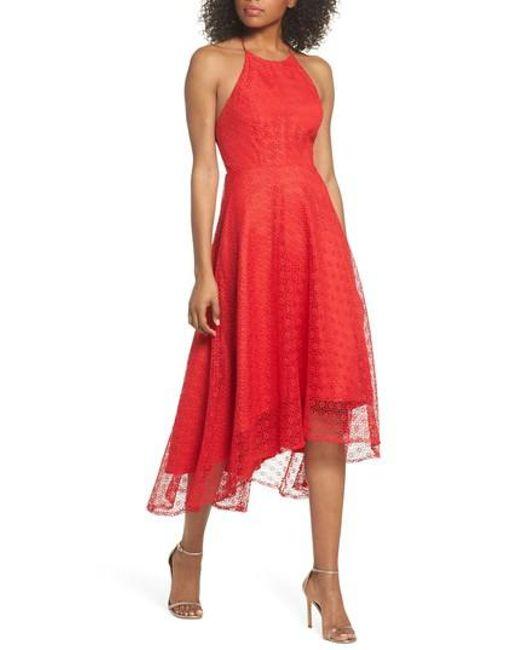 Jenny Yoo - Red Penelope Strappy Back Lace Dress - Lyst