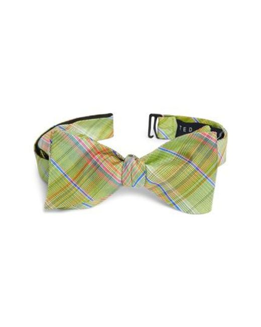 Ted Baker - Green Plaid Silk Tie for Men - Lyst