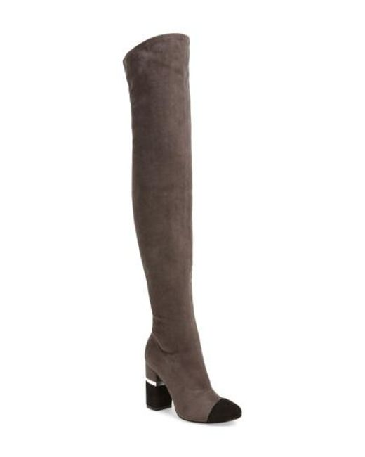 Marc Fisher | Gray Petel Over The Knee Boot | Lyst