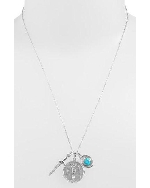 Melinda Maria - Metallic Goddess Of Strength Cluster Pendant Necklace - Lyst