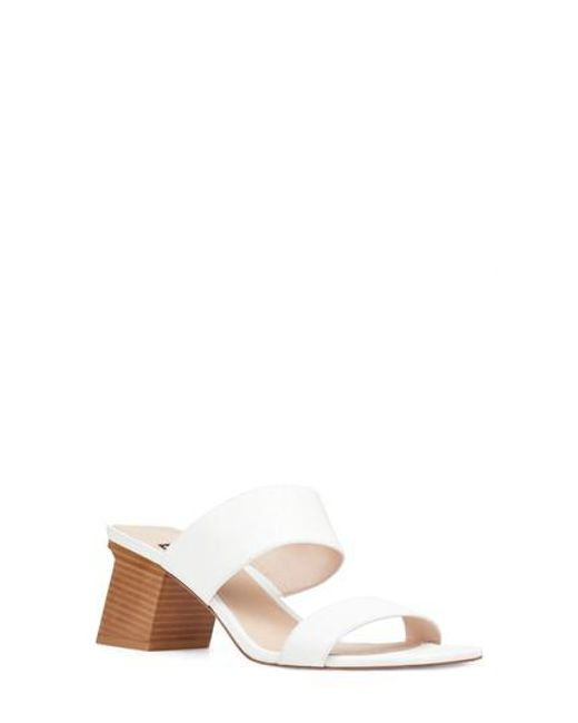 Nine West - White Churen Sandal - Lyst