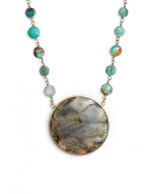 Ela Rae | Multicolor Morah Semiprecious Stone Necklace | Lyst