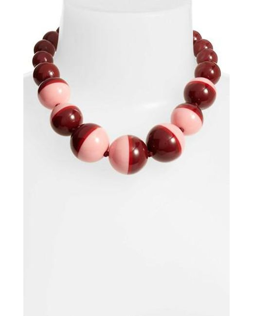 Kate Spade | Red In A Flash Collar Necklace | Lyst