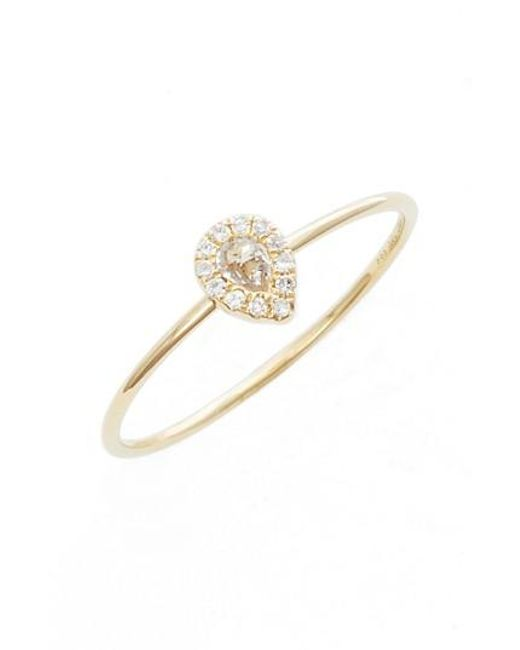 EF Collection - Metallic Teardrop Diamond & Topaz Stack Ring - Lyst