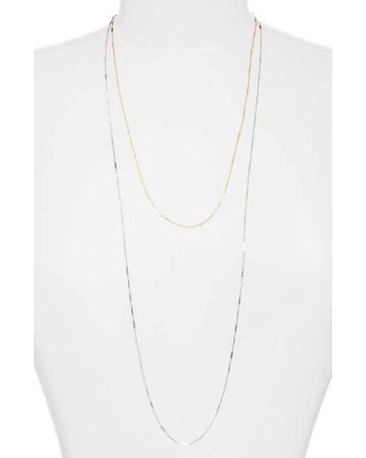Argento Vivo - Metallic Two-tone Mirror Multistrand Necklace - Lyst