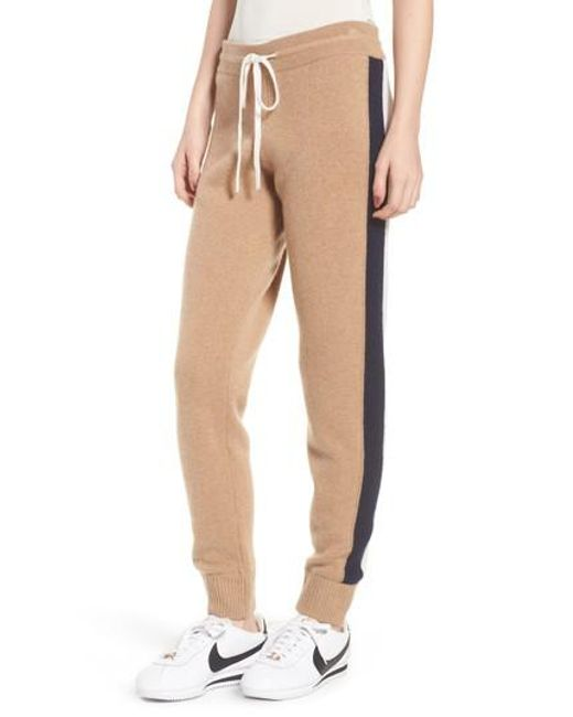 Juicy Couture - Natural Side Stripe Cashmere Track Pants - Lyst