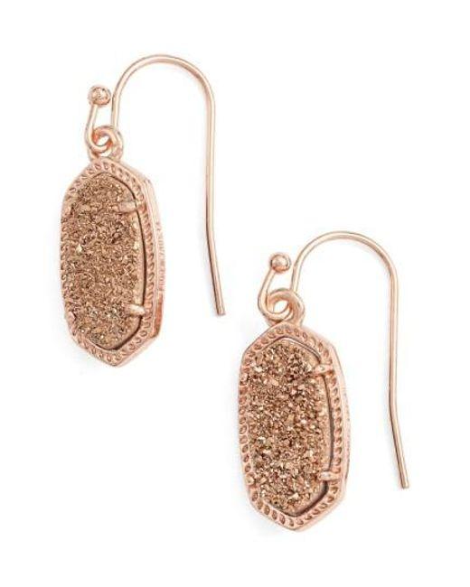 Kendra Scott | Black 'lee' Small Drop Earrings | Lyst