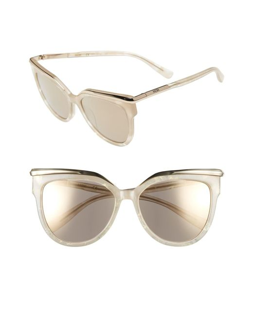 61e8b20af4 MCM - Multicolor 56mm Cat Eye Sunglasses - Sparkly Ivory - Lyst ...