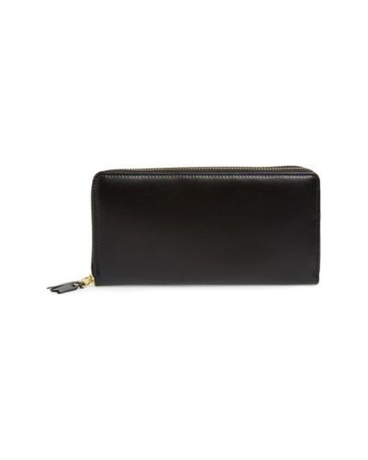Comme des Garçons - Black Leather Continental Long Wallet for Men - Lyst