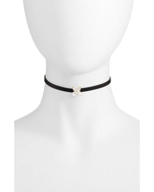 CZ by Kenneth Jay Lane | Metallic Marquise Choker Necklace | Lyst