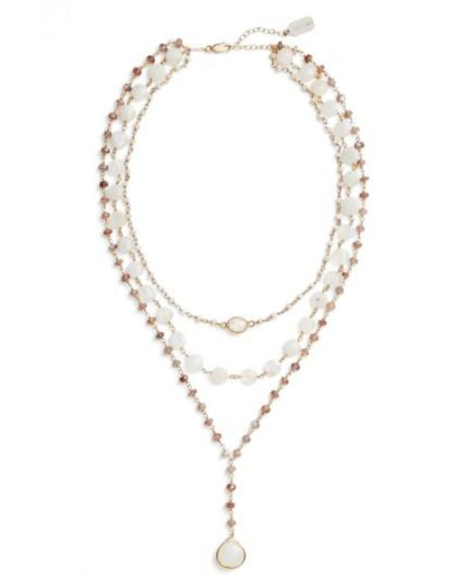 Ela Rae - Metallic Multistrand Y-necklace - Lyst