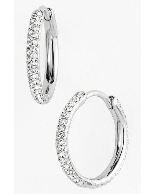 Nadri - Metallic Small Pave Hoop Earrings (nordstrom Exclusive) - Lyst