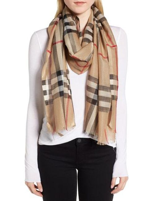 Burberry - Multicolor Giant Check Scarf - Lyst
